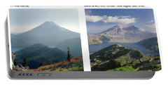 Portable Battery Charger featuring the photograph 1m4903 And 1m4948 Mt. Saint Helens Before And After Wa by Ed Cooper Photography