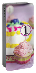 1st Birthday Portable Battery Charger by Cindy Garber Iverson