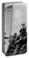 1st Flag Raising On Iwo Jima  Portable Battery Charger