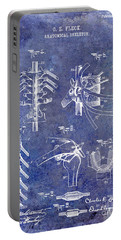 1911 Anatomical Skeleton Patent Blue Portable Battery Charger