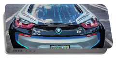Portable Battery Charger featuring the photograph 2015 Bmw I8 Hybrid Sports Car by Rich Franco