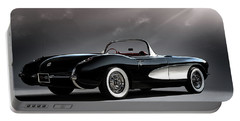 '56 Corvette Convertible Portable Battery Charger