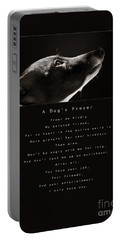 A Dog's Prayer  A Popular Inspirational Portrait And Poem Featuring An Italian Greyhound Rescue Portable Battery Charger