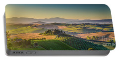A Golden Morning In Tuscany Portable Battery Charger by JR Photography