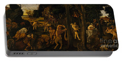 A Hunting Scene Portable Battery Charger