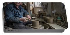 Portable Battery Charger featuring the photograph A Village Pottery Studio, Japan by Perry Rodriguez