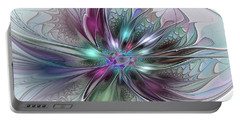 Colorful Fantasy Abstract Modern Fractal Flower Portable Battery Charger