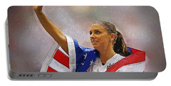 Alex Morgan Portable Battery Charger by Semih Yurdabak