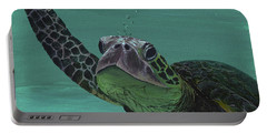 Portable Battery Charger featuring the painting Aloha From Maui by Darice Machel McGuire