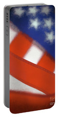 American Flag Portable Battery Charger by George Robinson