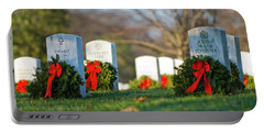 Arlington National Cemetery At Christmas Portable Battery Charger