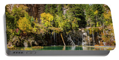Autumn At Hanging Lake Waterfall - Glenwood Canyon Colorado Portable Battery Charger