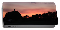Barn Sunset Portable Battery Charger