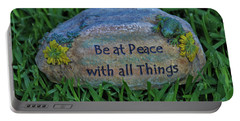 Portable Battery Charger featuring the photograph 2- Be At Peace by Joseph Keane