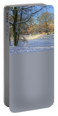 Beautiful Park In Winter With Snow Portable Battery Charger