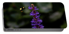 Portable Battery Charger featuring the photograph Bee by Jay Stockhaus
