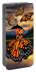 Portable Battery Charger featuring the mixed media Believe by Marvin Blaine