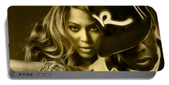 Beyonce Jay Z Collection Portable Battery Charger by Marvin Blaine