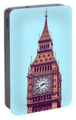 Big Ben Tower, London  Portable Battery Charger by Asar Studios