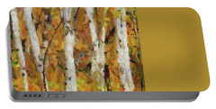 Birch Trees In Autumn Portable Battery Charger by Dragica Micki Fortuna