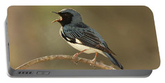Black-throated Blue Warbler Portable Battery Charger by Alan Lenk