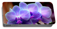 Blue Orchids Portable Battery Charger
