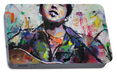 Bob Dylan Portable Battery Charger by Richard Day