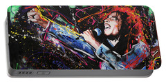 Bob Marley Portable Battery Charger by Richard Day
