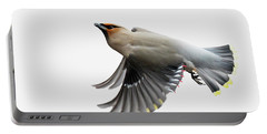 Portable Battery Charger featuring the photograph Bohemian Waxwing  by Mircea Costina Photography