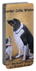 Border Collie Wisdom Portable Battery Charger