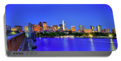 Portable Battery Charger featuring the photograph Boston Skyline From The Charles River by Joann Vitali