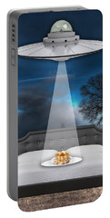 Breakfast In Bed Portable Battery Charger by Marvin Blaine
