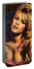 Brigitte Bardot Hollywood Actress Portable Battery Charger by Esoterica Art Agency