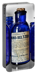 Bromo Seltzer Vintage Glass Bottles Collection Portable Battery Charger
