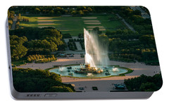 Buckingham Fountain Chicago Portable Battery Charger by Steve Gadomski