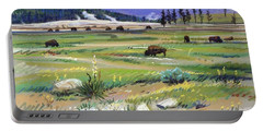 Buffaloes In Yellowstone Portable Battery Charger