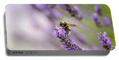 Bumblebee And Lavender Portable Battery Charger