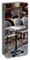 Cafe Terrace In Paris Portable Battery Charger