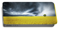 Canola Field Portable Battery Charger by Bess Hamiti