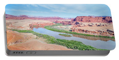 Canyon Of Colorado River In Utah Aerial View Portable Battery Charger