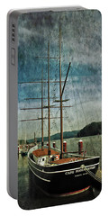 Cape Foulweather Tall Ship Portable Battery Charger by Thom Zehrfeld