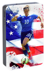 Carli Lloyd Portable Battery Charger by Semih Yurdabak
