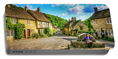 Castle Combe Village, Uk Portable Battery Charger by Chris Smith