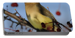 Cedar Waxwing... Portable Battery Charger by Nina Stavlund