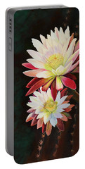Portable Battery Charger featuring the painting Cereus Business by Marilyn Smith