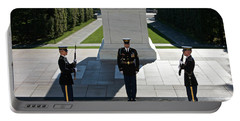 Changing Of Guard At Arlington National Portable Battery Charger by Terry Moore