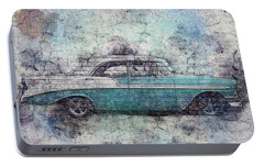 Portable Battery Charger featuring the photograph Chevy Bel Air by Joel Witmeyer