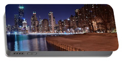 Chicago From The North Portable Battery Charger by Frozen in Time Fine Art Photography
