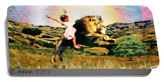 Child Like Faith Portable Battery Charger by Dolores Develde