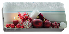 Christmas Windowsill Portable Battery Charger by Anastasy Yarmolovich